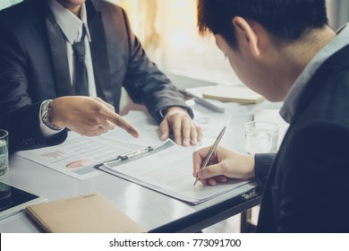 Boss manager order his officer to note project business marketing plan