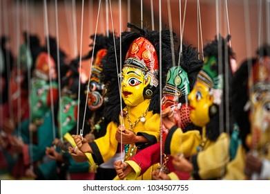 The boss, puppet street theater, Kathmandu, Nepal