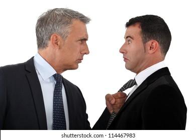 Boss threatening employee