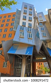 BOSTON - AUG 12, 2011: MIT Modern architecture the Stata Center designed by Frank Gehry in Massachusetts Institute of Technology in Cambridge, Boston, Massachusetts, USA.