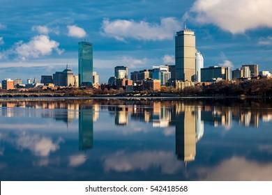 Boston Back bay in day light