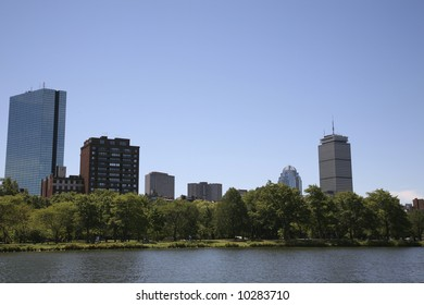 Boston with the Charles River in the foreground