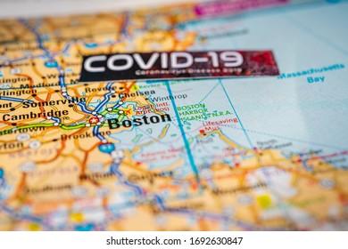 Boston Coronavirus Covid-19 Quarantine background