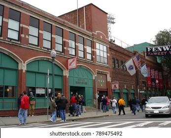 Boston - Fenway Park - Yawkey Way -  2003-9-28 - Before a World Series Banner