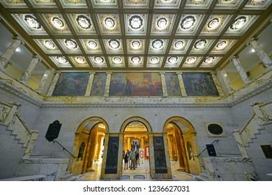 BOSTON - JUN. 11, 2014: Massachusetts State House Nurses Hall, Boston Beacon Hill, Massachusetts, USA.
