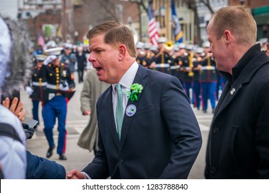 Boston, MA - 3/19/17: Mayor Marty Walsh marches in the annual South Boston St Patricks Day Parade