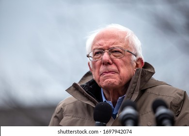 BOSTON, MA / USA - 02 29 2020— Senator Bernie Sanders drew a crowd of over 13,000 people to his rally at the Boston Common on leap day. (LAURYN ALLEN)