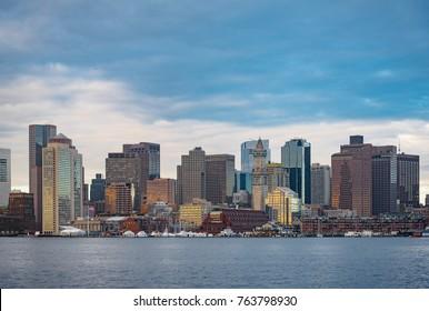BOSTON, MA / USA - APRIL 2017: View of Downtown Boston
