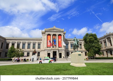Boston, MA, USA - August 30, 2013: Museum of Fine Arts, Boston: The Museum of Fine Arts in Boston, is one of the largest museums in the United States. It contains more than 450,000 works of art.