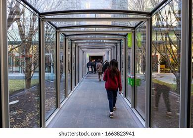 Boston MA USA - circa Feb 2020 - Interior of Isabella Stewart Gardner Museum