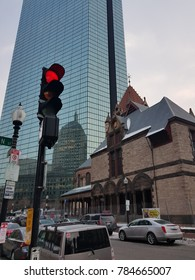 BOSTON, MA, USA - DECEMBER 31, 2017: Cambridge Street, Boston, Massachusetts, USA on December 31, 2017