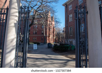 Boston, MA, USA, December 9th 2018-Harvard University was funded in 1636 and named after its first benefactor John Harvard