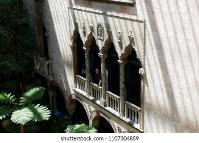 Boston, MA, USA, May 23, 2018: Interior and arts collections in Isabella Stewart Gardner Museum. It houses an art collection of world importance such as Asian, European, American arts.