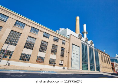 Boston, MA, USA-20 October, 2017: William R Dickson cogeneration plant, part of MIT environmental clean energy initiative.