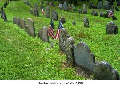 Boston, Massachusetts,. Granary Burying Ground - old cemetery.