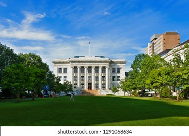 Boston, Massachusetts - July 31, 2018: Harvard Medical School at early morning. The School is the graduate medical school of Harvard University and is in the Longwood Medical Area of the Mission Hill.
