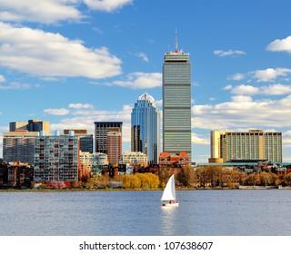 Boston, Massachusetts skyline at Back Bay.