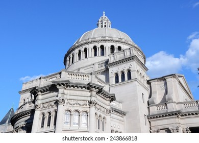 Boston, Massachusetts in the United States. The First Church of Christ, Scientist. Classical architecture.
