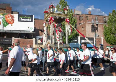 Boston, Massachusetts, USA, 07 August 2016: Feast in honor of Saint Agrippina in Boston, Usa