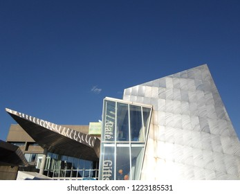 Boston, Massachusetts / USA - 11/6/2018: New England Aquarium, Boston Harbor