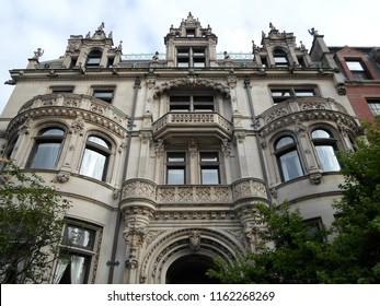 Boston, Massachusetts / USA - August 22 2018: Burrage Mansion, Commonwealth Avenue