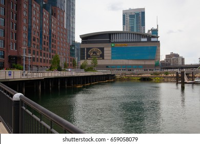 Boston, Massachusetts, USA  - July 2,2016: Famous The Garden. TD Garden is the home of the storied NHL club Boston Bruins and NBA club Boston Celtics