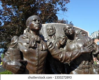 Boston, Massachusetts / USA - March 8 2019: Harriet Tubman Square