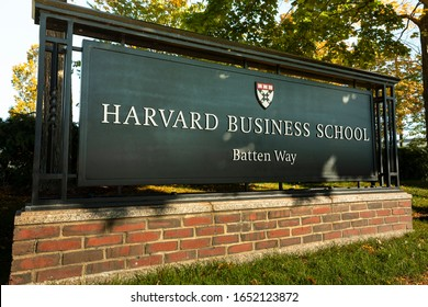 Boston, Massachusetts, USA – October 18, 2018:  Harvard Business school building in Cambridge Massachusetts USA is the graduate school of Harvard University in Boston, Massachusetts, United States