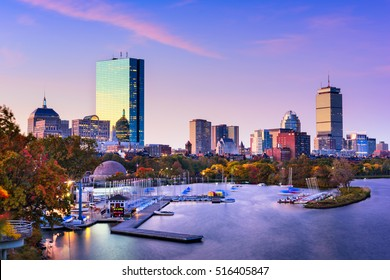 Boston, Massachusetts, USA skyline.