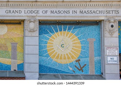 Boston, Massachusetts/United States; May 30th 2015:  Grand Lodge of Masons of Massachusetts in Tremont Street (Boston, Massachusetts, United States)
