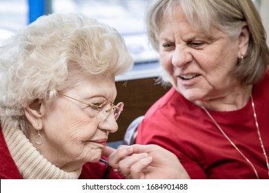 Boston, Massachusetts/USA – Feb. 05 and 06, 2020: Birthday celebrations of centenary people in nursing homes, part of the photographic documentary #forever that is in progress.