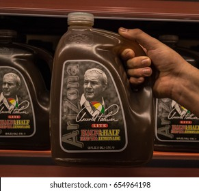 BOSTON, MA/USA - MAY 28: Arnold Palmer Beverage in the grocery store aisle on May 28th in Boston, Massachusetts.