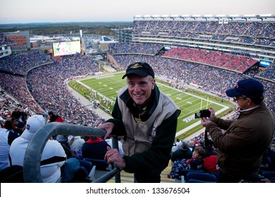 BOSTON - OCTOBER 16: Professional photographer Joseph Sohm at Gillette Stadium, the home of Super Bowl champs, New England Patriots vs. the Dallas Cowboys on October 16, 2011 in Foxborough, Boston, MA