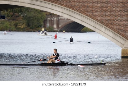 BOSTON - OCTOBER 18: In the Head of Charles Regatta, On October 18th, 2008 David Jillings finishes the race 21st.