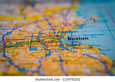 Boston on USA map