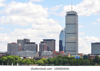 afd36064d96 Boston Prudential Center and Back Bay Skyline