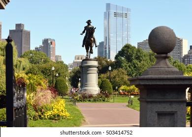 Boston Public Garden from Arlington Gate