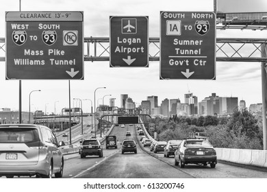 Boston City Traffic Stock Photos, Images & Photography
