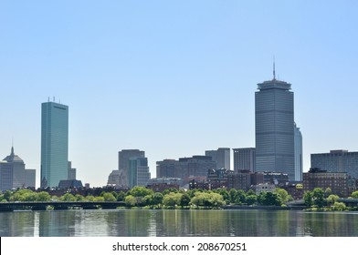 Boston skyline from the Charles river, USA