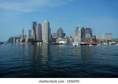 Boston skyline from Boston Harbor