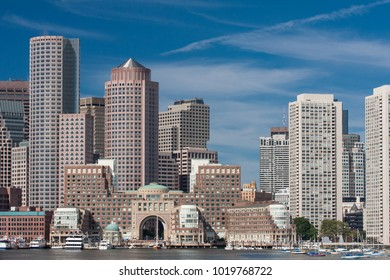 Boston Skyline from sea