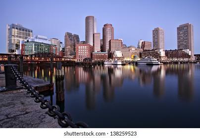 Boston Sunrise Skyline