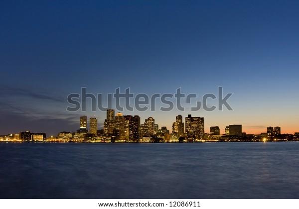 Boston Sunset Skyline