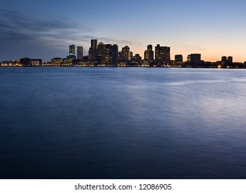 Boston Twilight Skyline