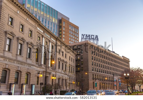 BOSTON, UNITED STATES - NOVEMBER 17, 2016: The Young Men's Christian Association (YMCA) building in Boston, USA.