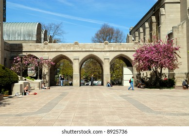 Boston University in mid spring