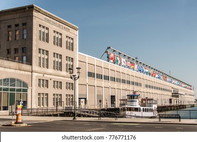 BOSTON, USA - 05.09.2017 Seaport World Trade Center building located on the waterfront Commonwealth Pier South Boston