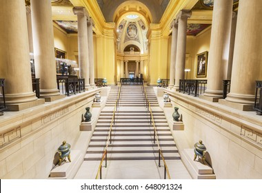 Boston, USA - April 21, 2017: The Museum of Fine Arts (MFA) in Boston, Massachusetts. It is the fourth largest museum in the United States.