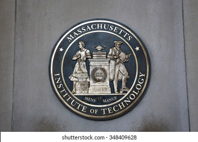 Boston, USA - August 24, 2015: the logog of the The MIT, Massachusetts Institute of Technology  is a prestigious American private research university
