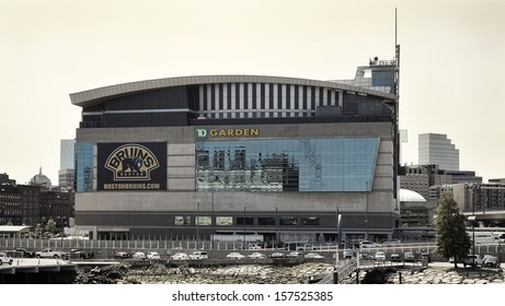 BOSTON, USA - JUNE 1: The TD Garden is the home stadium of the Boston Bruins hockey team and the Boston Celtics baseball team located in Boston, Massachusetts, USA and photographed on June 1, 2013.
